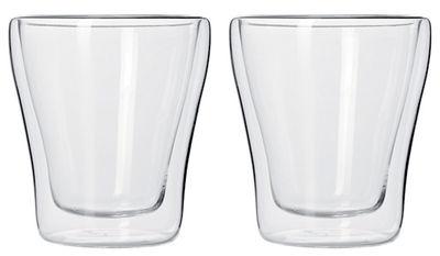 Verre Duo / Lot de 2 verres à double paroi - Leonardo transparent en verre