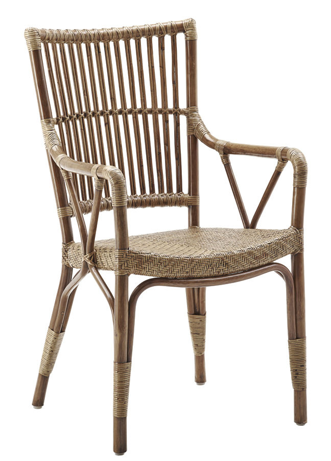 Furniture - Armchairs - Piano Armchair by Sika Design - Antique - Rattan