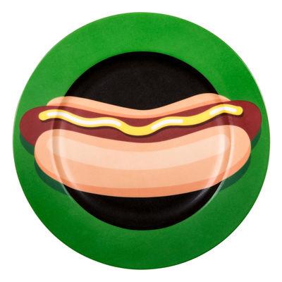 Assiette Hot-dog / Porcelaine - Ø 27 cm - Seletti multicolore en céramique