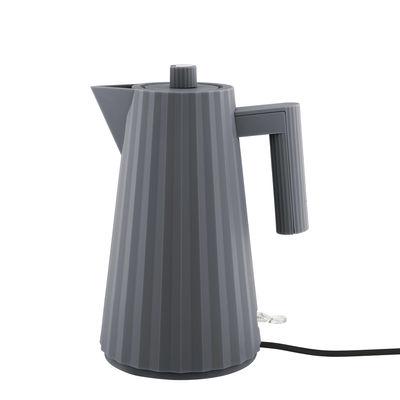 Cuisine - Théières et bouilloires - Bouilloire électrique Plissé / 1,7 L - Alessi - Gris foncé - Résine thermoplastique