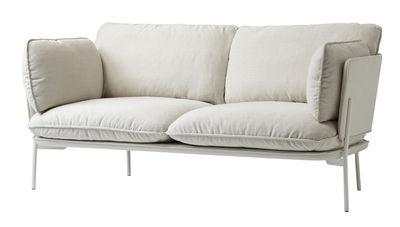 Canapé droit Cloud LN2 / 2 places - L 168 cm - &tradition blanc/beige en métal/tissu