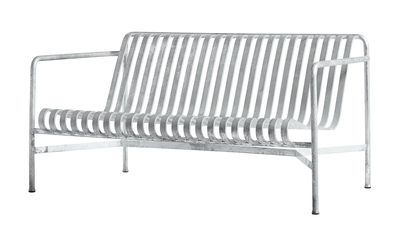 Canapé droit Palissade Lounge L 139 cm R E Bouroullec Hay acier galvanisé en métal