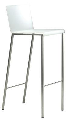 Chaise de bar Bianco Mat / H 80 cm - Zeus acier,blanc mat en métal