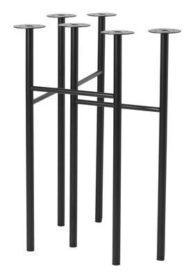 Arredamento - Mobili da ufficio - Coppia di cavaletti Mingle Small - / L 48 cm di Ferm Living - Cavalletti / Nero - Metallo rivestito in resina epossidica