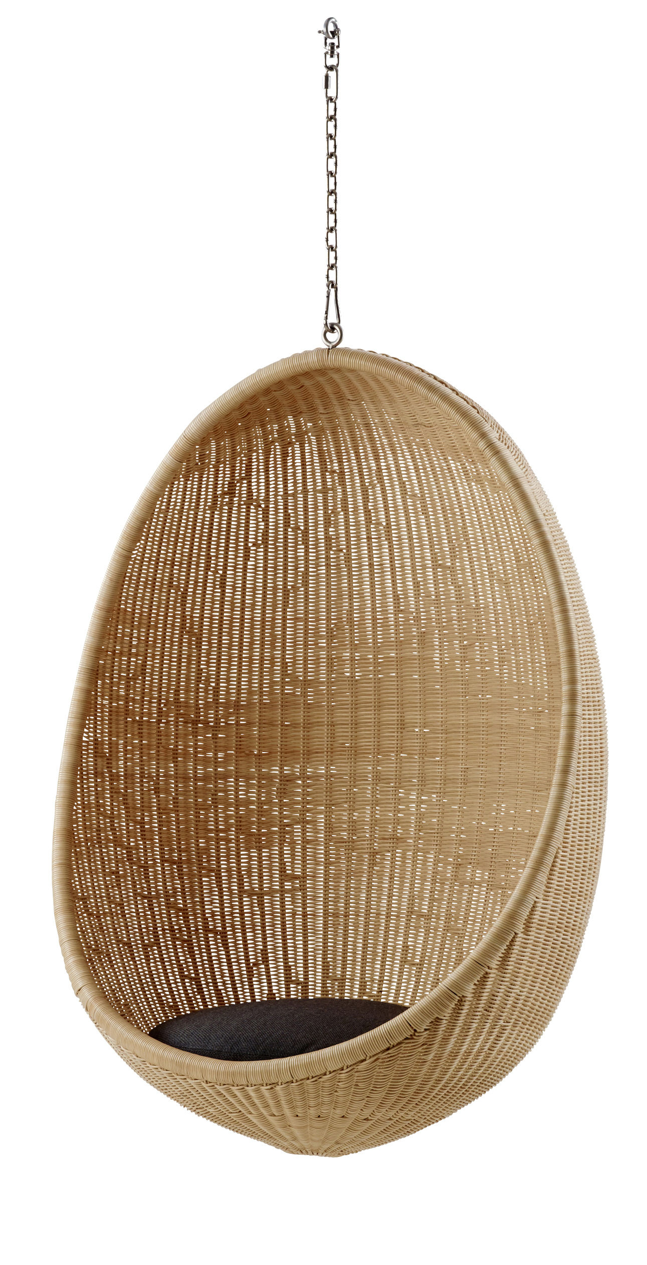 Arredamento - Poltrone design  - Cuscino - di seduta / Per poltrona Œuf di Sika Design - Cuscino / Nero - Tessuto