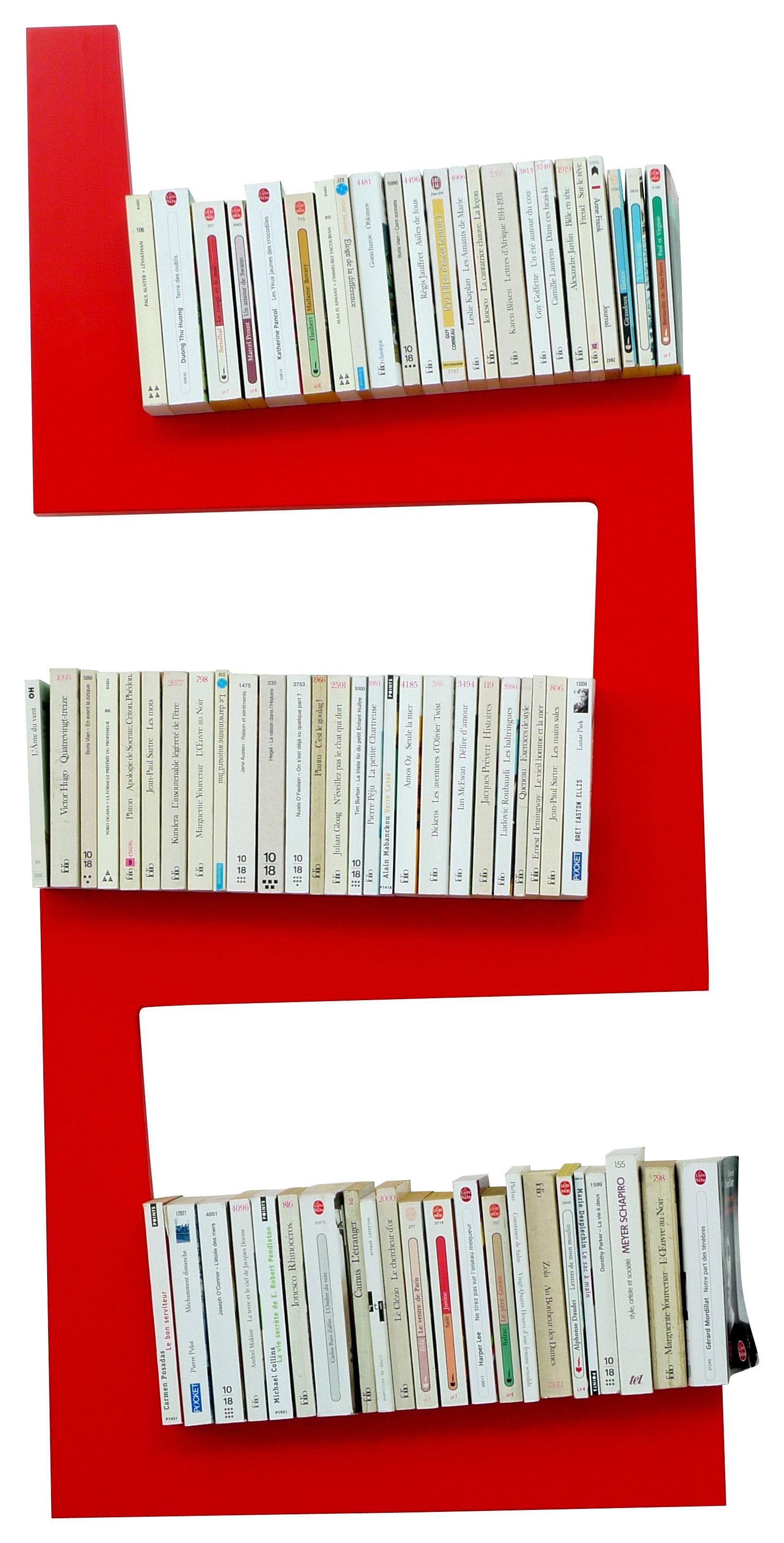 Mobilier - Etagères & bibliothèques - Etagère OneSnake - La Corbeille - Rouge - MDF laqué
