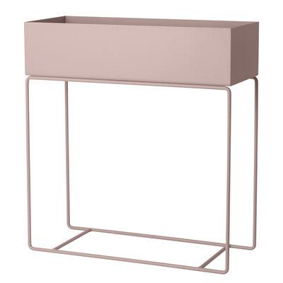 Interni - Vasi e Piante - Fioriera autoportante Plant Box - / L 60 x H 65 cm di Ferm Living - Rosa pallido - Acciaio laccato epossidico