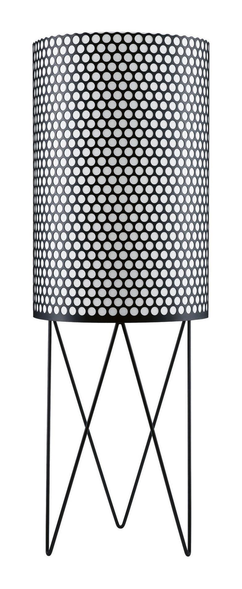 Lighting - Floor lamps - Pedrera Floor lamp - Ø 39 x H 113 cm - Reissue 1955 by Gubi - Black - Metal, Polythene