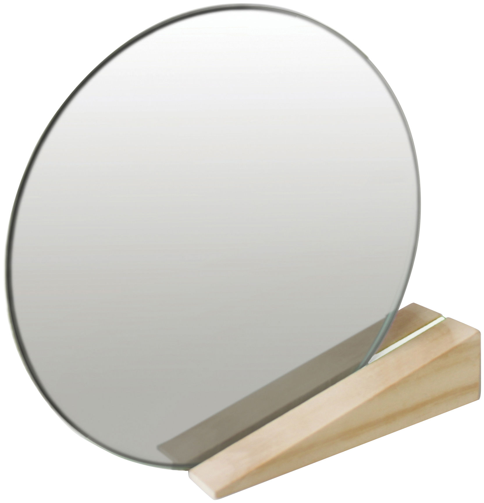 Decoration - Mirrors - On the edge Free standing mirrors by Thelermont Hupton - Light wood support / White inside - Accoya wood, Mirror