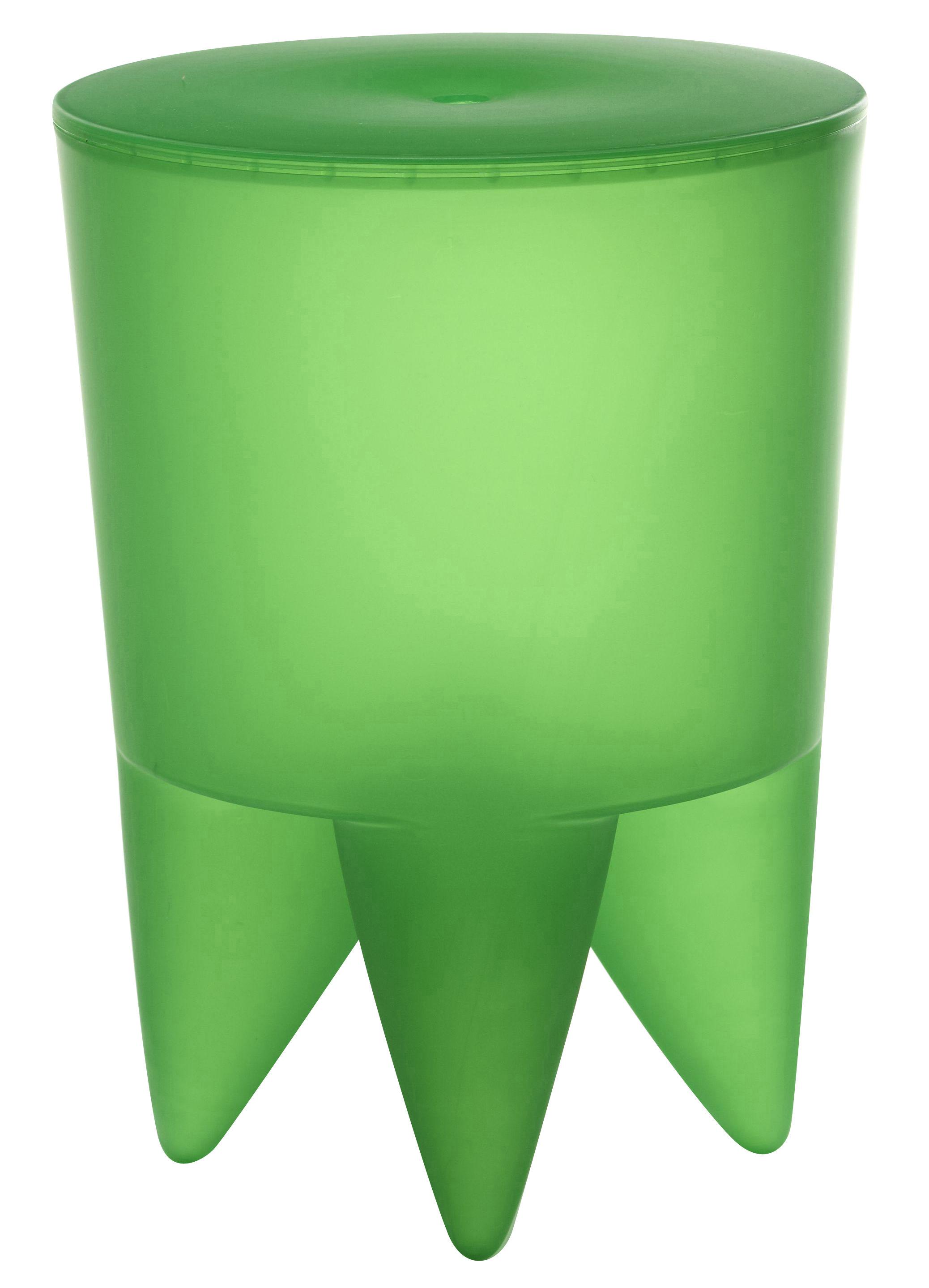 Möbel - Möbel für Teens - New Bubu 1er Hocker Durchsichtig - XO - Rasengrün durchschtig - Polypropylen