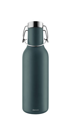Tableware - Water Carafes & Wine Decanters - iso Cool Insulated flask - 0.7 L / Stainless steel by Eva Solo - Petrol blue - Silicone, Stainless steel