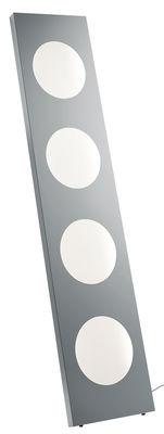 Illuminazione - Lampade da terra - Lampada a stelo Dolmen - LED / L 40 x H 180 cm di Foscarini - Alluminio - Alluminio anodizzato, PMMA