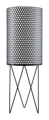 Illuminazione - Lampade da terra - Lampada a stelo Pedrera - Ø 39 x H 113 cm - Rieditata 1955 di Gubi - Nero - Metallo, Polietilene
