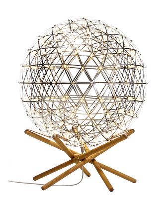 Illuminazione - Led - Lampada da pavimento Raimond Tensegrity - / LED  - Ø 61 cm di Moooi - Piccolo - Ø 61 cm - Acciaio inossidabile, Pelle, PMMA, Rovere