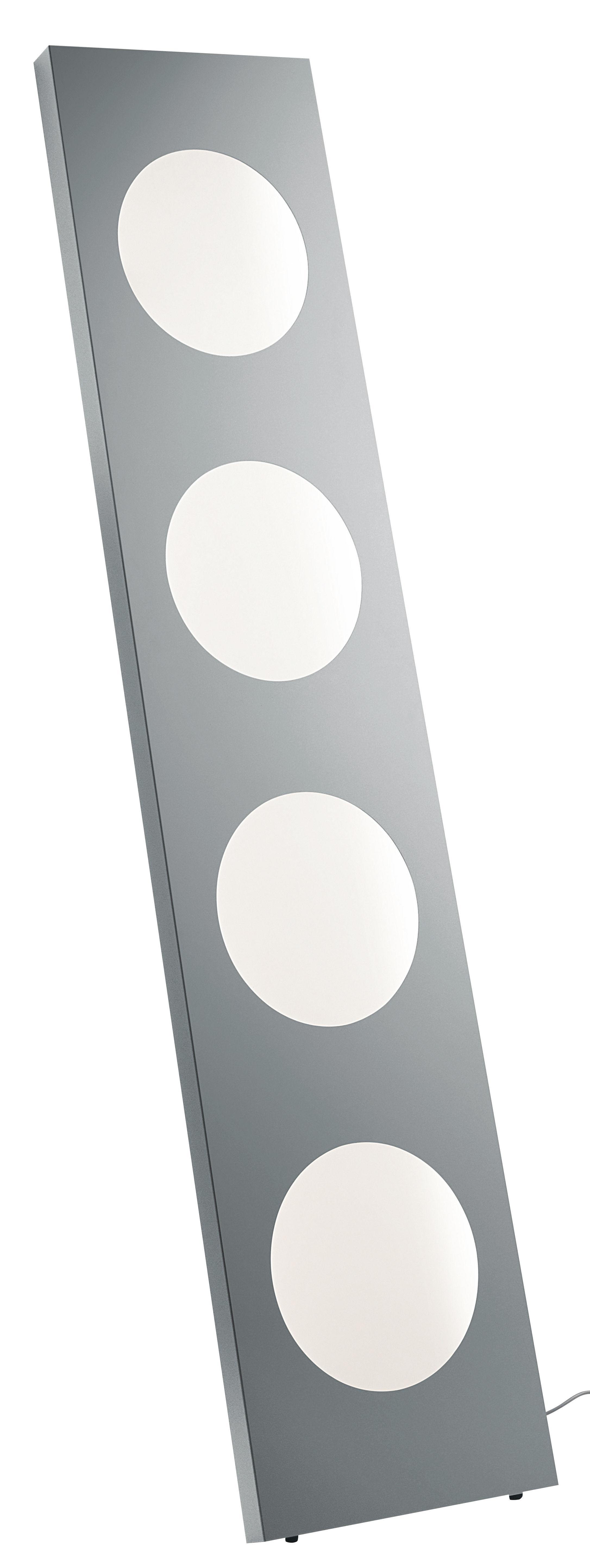 Luminaire - Lampadaires - Lampadaire Dolmen LED / L 40 x H 180 cm - Foscarini - Aluminium - Aluminiu anodisé, PMMA
