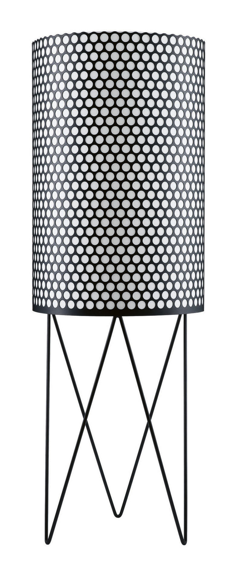 Luminaire - Lampadaires - Lampadaire Pedrera Ø 39 x H 113 cm - Réédition 1955 - Gubi - Noir - Métal, Polyéthylène