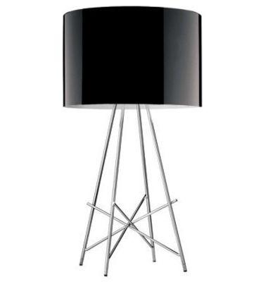 Luminaire - Lampes de table - Lampe de table Ray T Lampe de table - Flos - Métal Noir brillant - Acier chromé, Aluminium laqué