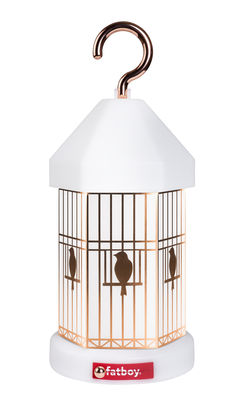 Lampie-ON Deluxe Lampe ohne Kabel / mit USB-Ladekabel - inkl. 4 Deko-Blenden - Fatboy - Weiß,Kupfer