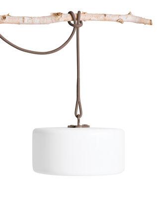 Lampe sans fil Thierry Le swinger LED / Baladeuse à poser, suspendre ou planter - Fatboy gris en matière plastique