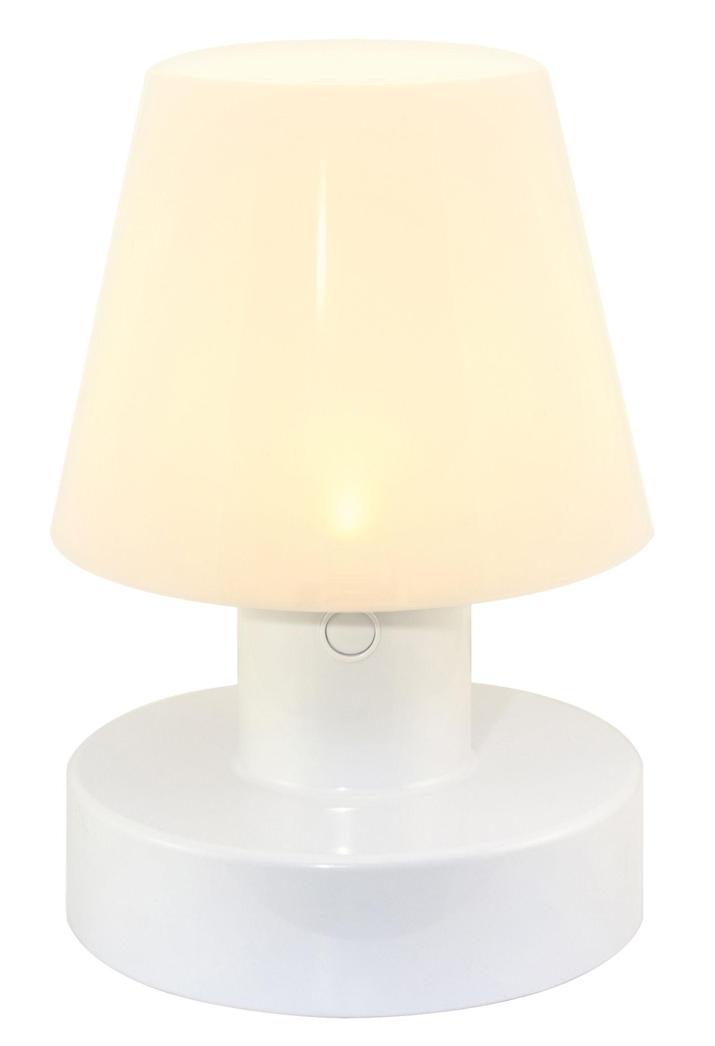 Luminaire - Lampes de table - Lampe solaire / Sans fil - H 20 cm - Bloom! - Blanc - Polyéthylène