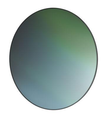 Miroir mural Rond / Verre réfléchissant imprimé - Ø 76 cm - Fritz Hansen vert en verre/bois