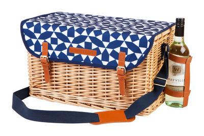 Panier à pique-nique Andaman / Osier & cuir - Set complet 4 personnes - Sunnylife bleu,osier en rotin & fibres