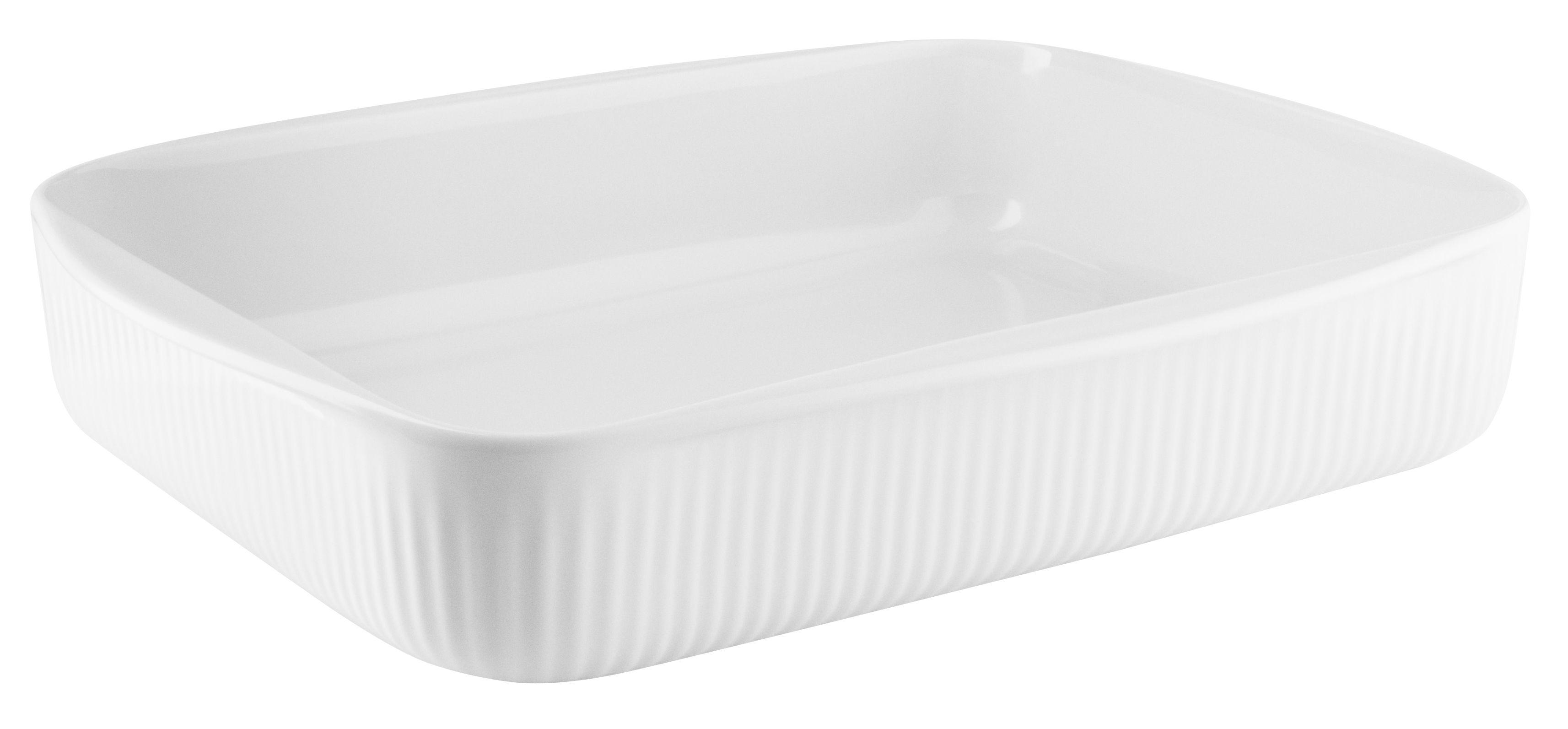 Arts de la table - Plats - Plat à gratin Legio Nova / Medium - 31 x 24,5 cm - Eva Trio - Medium / Blanc - Porcelaine