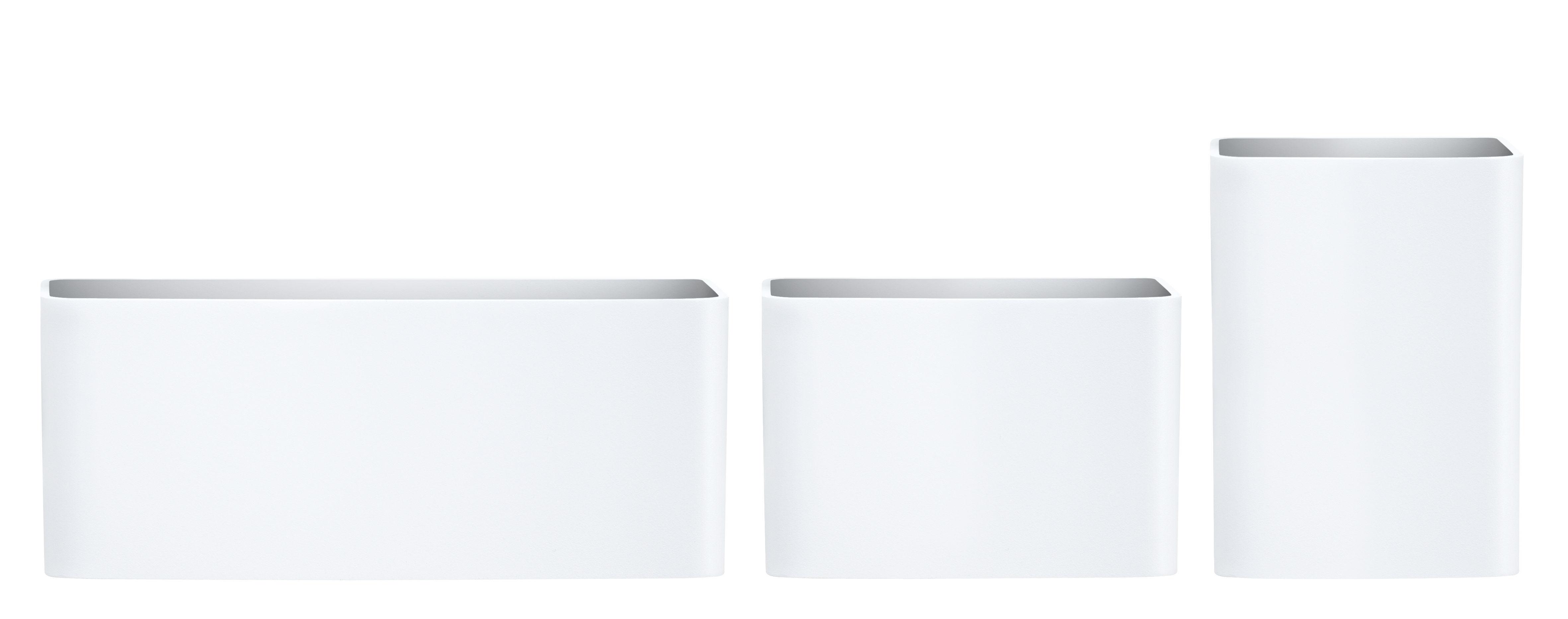 Déco - Paniers et petits rangements - Pot à suspendre / Pour étagères String - Set de 3 - String Furniture - Blanc - Plastique ABS