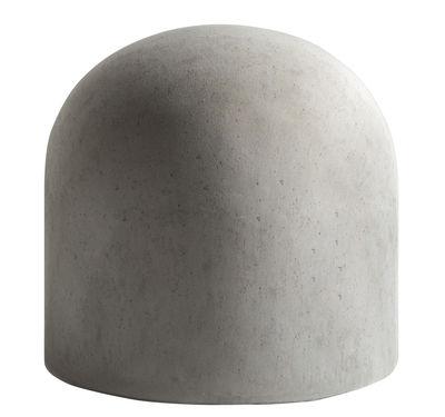 Furniture - Poufs & Floor Cushions - Bard Pouf - Padded by Internoitaliano - Cement grey - Fabric, Polyurethane foam, Wood