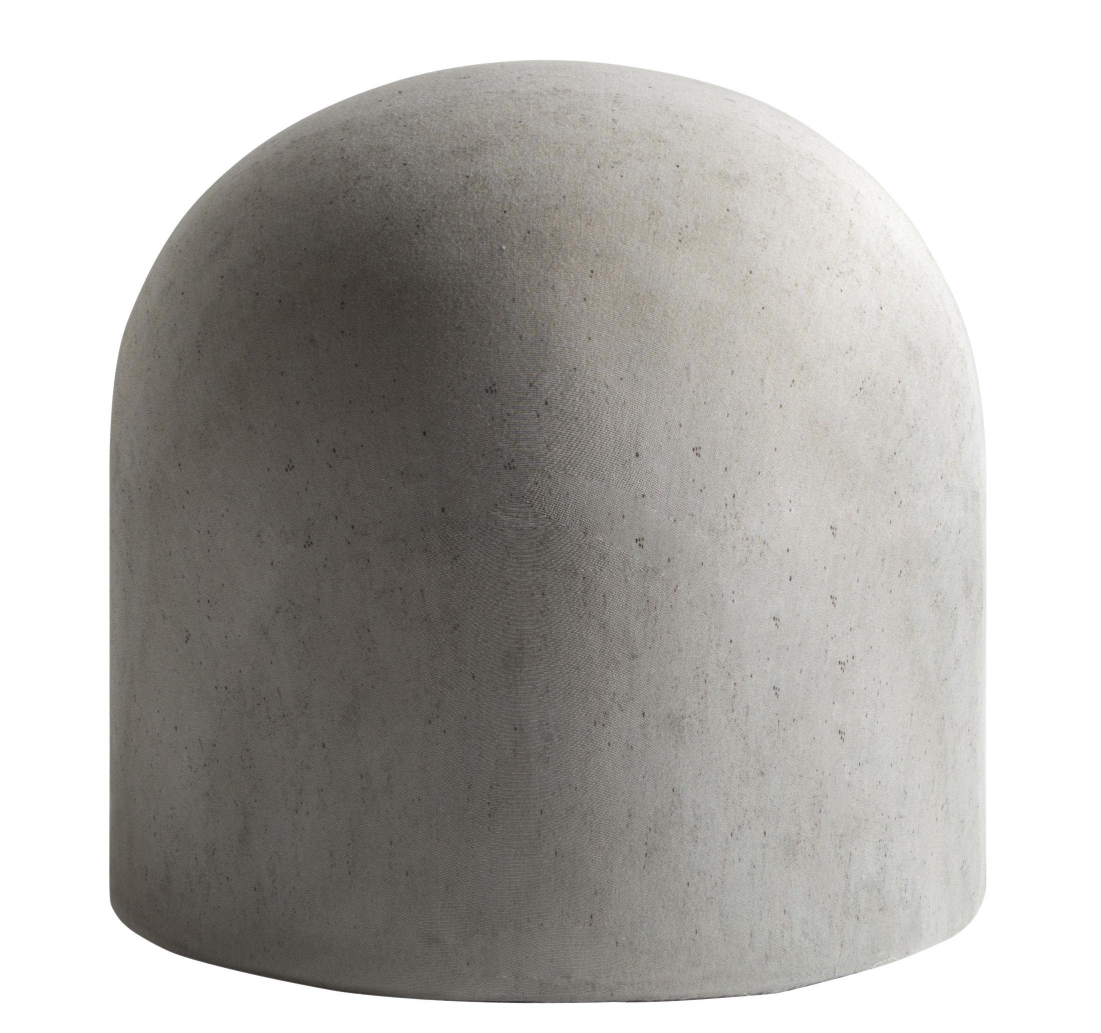 Arredamento - Pouf - Pouf Bard - / Imbottito di Internoitaliano - Grigio cemento - Legno, Schiuma di poliuretano, Tessuto