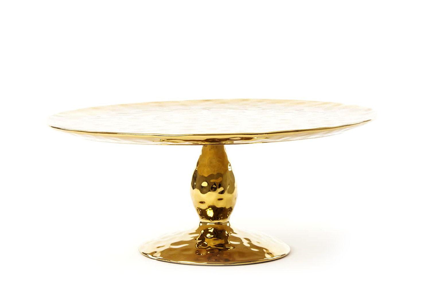 Arts de la table - Plats - Présentoir à gâteau Fingers / Ø 32,7 cm - Seletti - Doré - Porcelaine