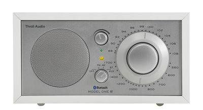 Radio Model One BT / Enceinte Bluetooth - Tivoli Audio blanc,argent en bois