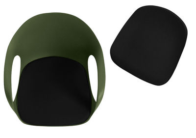 Decoration - Cushions & Poufs - Seat cushion - For Elephant armchair by Kristalia - Black - Polyester fabric