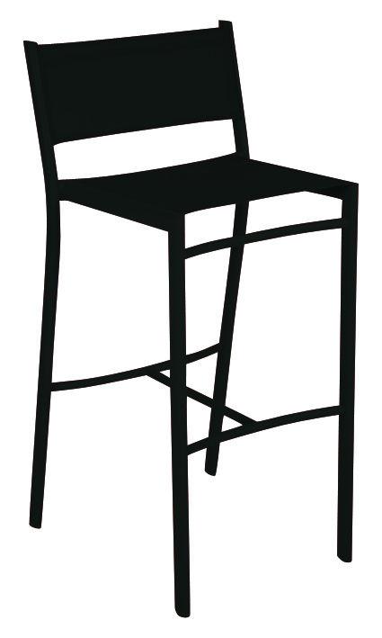Arredamento - Sgabelli da bar  - Sedia da bar Costa di Fermob - Liquerizia - Alluminio, Tela poliestere
