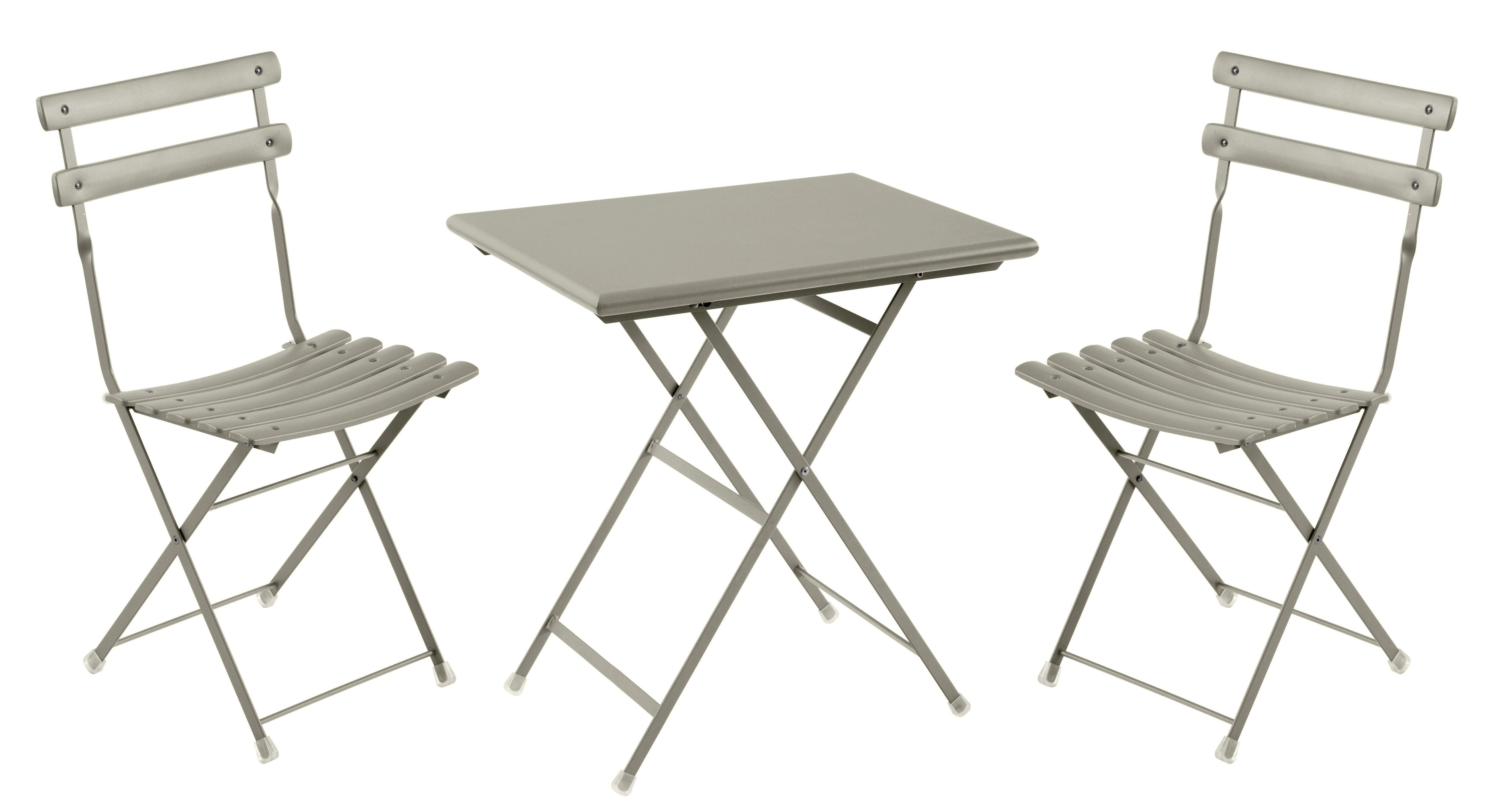 Set Table Amp Chaises Arc En Ciel Emu Gris L 70 X L 50 X