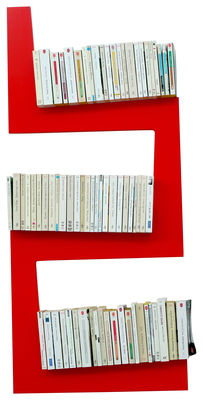 Furniture - Bookcases & Bookshelves - OneSnake Shelf by La Corbeille - Red - Lacquered MDF