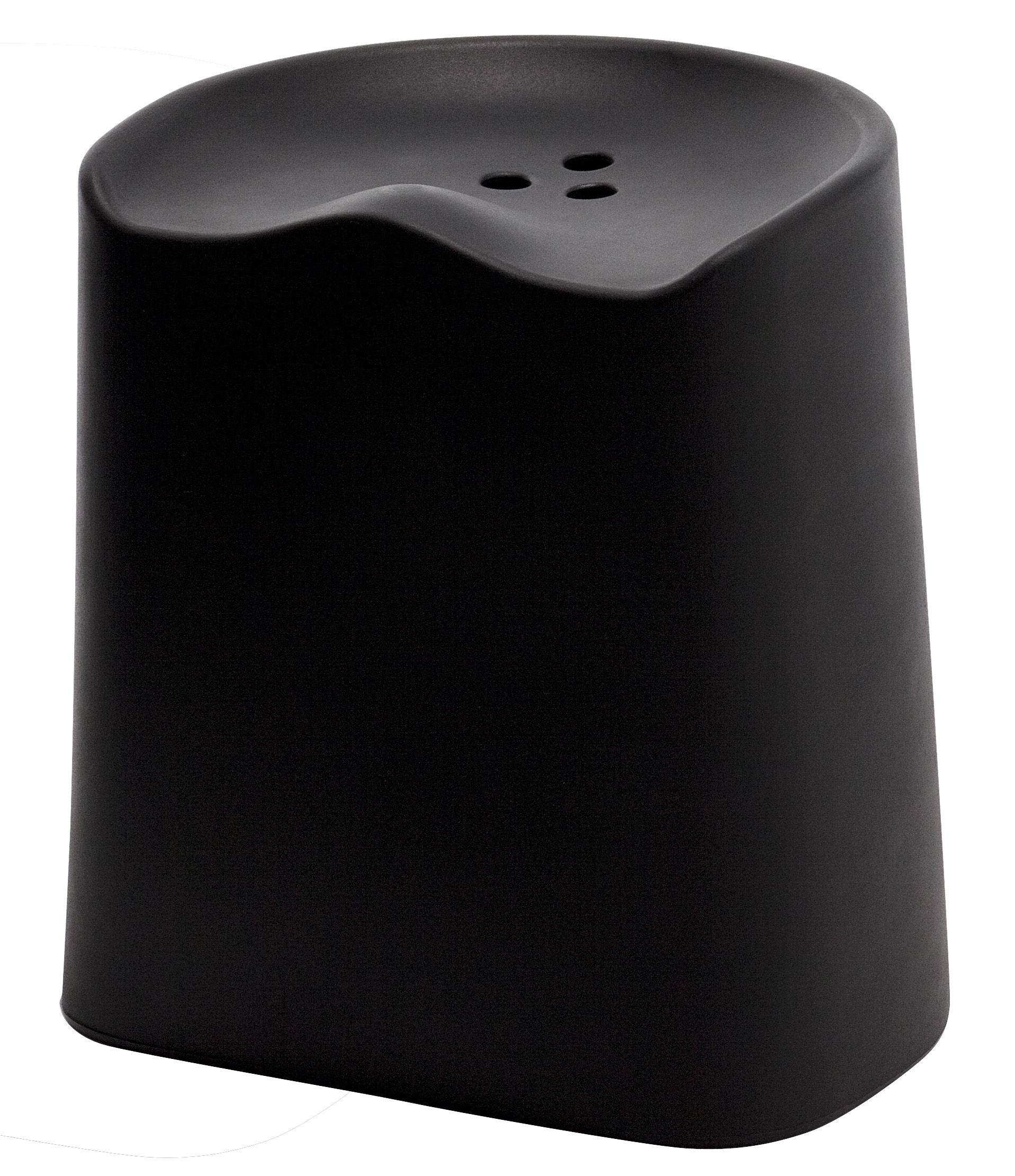 Furniture - Stools - Butt Stackable stool - H 49 cm by Established & Sons - Black - Polypropylene