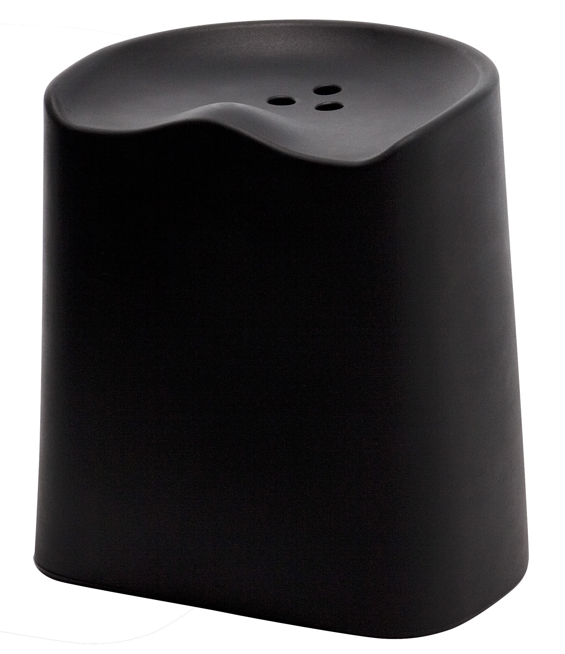 Möbel - Hocker - Butt Stappelbarer Hocker H 49 cm - Established & Sons - Schwarz - Polypropylen