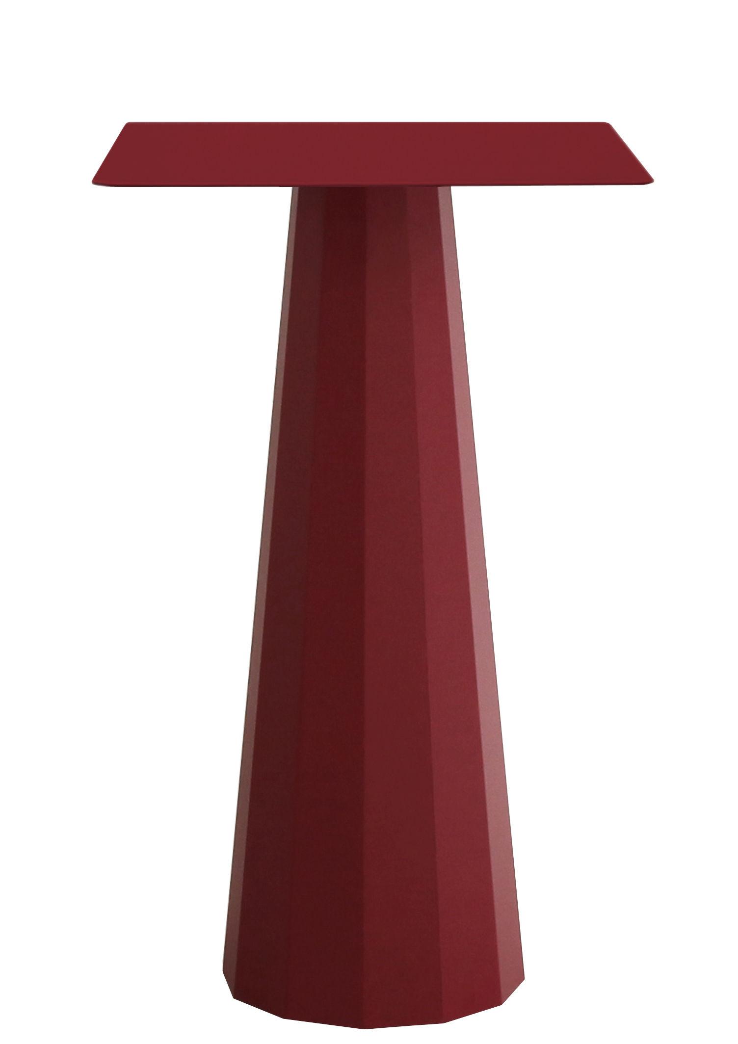 Möbel - Stehtische und Bars - Ankara Stehtisch / 70 x 70 cm x H 110 cm - Matière Grise - Purpurrot - Stahl