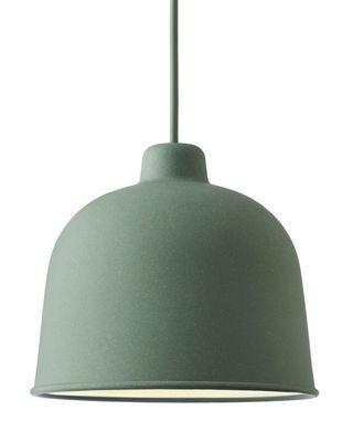 Luminaire - Suspensions - Suspension Grain / Ø 21 cm - Muuto - Vert - Matériau composite