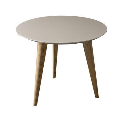 Table basse Lalinde Small Ø 45cm / Pieds bois - Sentou Edition gris clair,chêne en bois