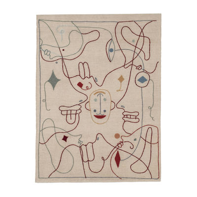 Interni - Tappeti - Tappeto Silhouette - / By Jaime Hayon - 200 x 300 cm / Lana di Nanimarquina - 200 x 300 cm / Beige & multicolore - Lana