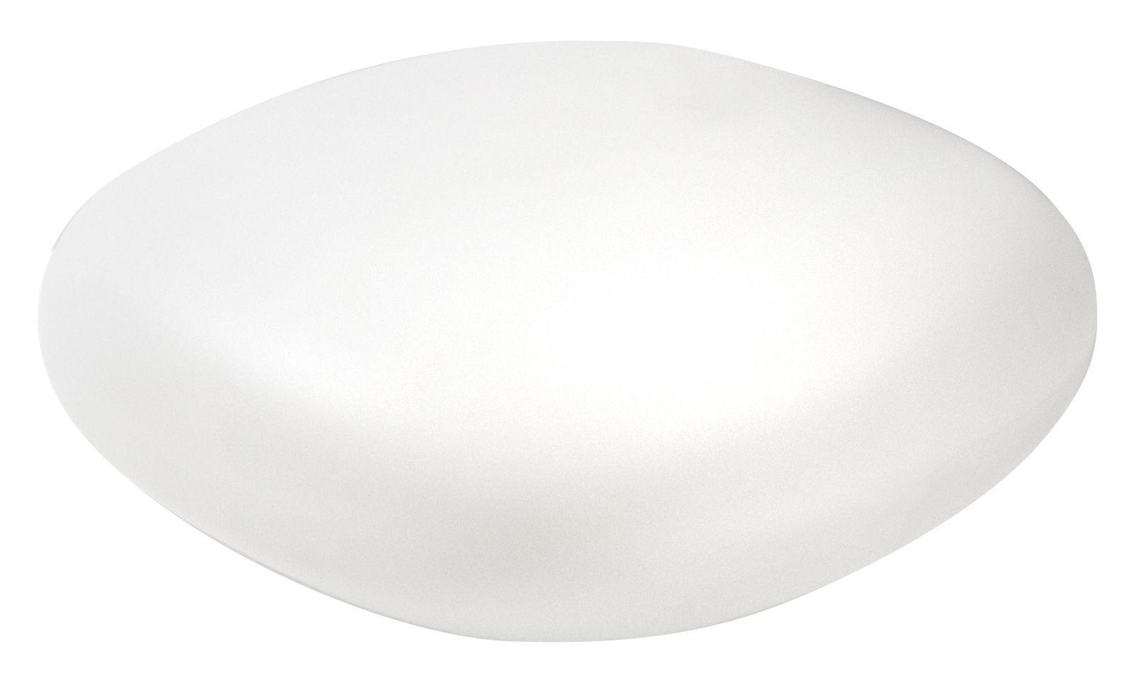 Arredamento - Tavolini  - Tavolino Chubby Low di Slide - Bianco - polietilene riciclabile
