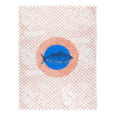 Torchon Poisson / 50 x 70 cm - Coton - Bitossi Home bleu,orange en tissu