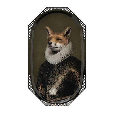 Tableware - Trays - Le Corbeau et le Renard Tray by Ibride - Fox - Solid stratified layers