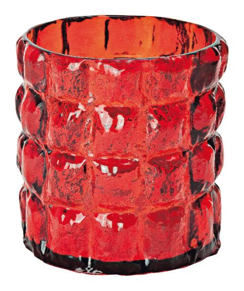 Dekoration - Vasen - Matelasse Vase - Kartell - Rot transparent - Polykarbonat