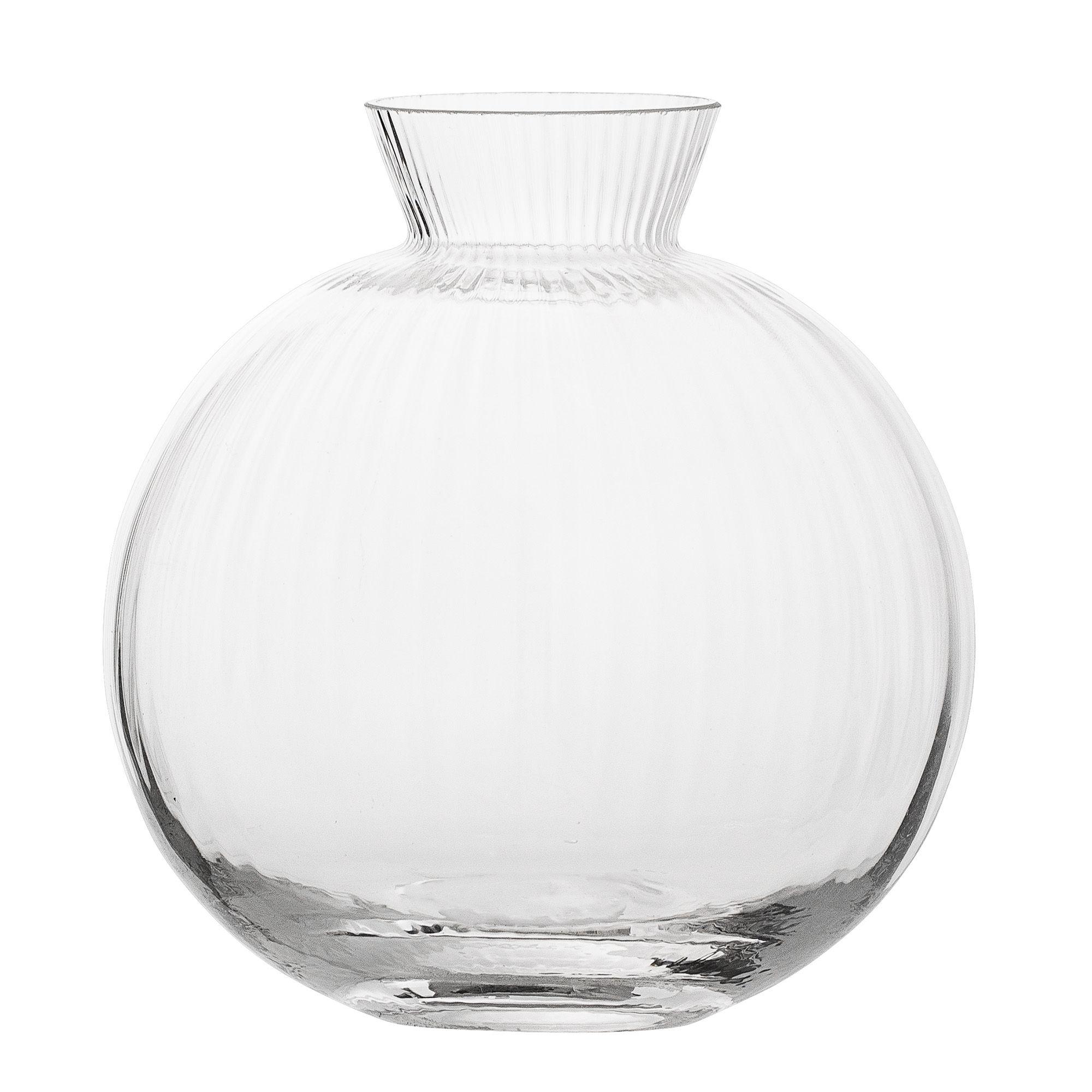 Decoration - Vases - Vase - / Ø 11 cm by Bloomingville - Transparent - Glass