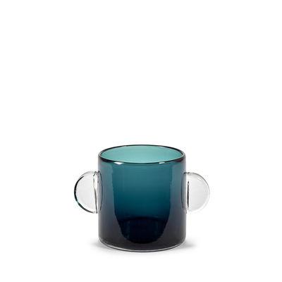 Déco - Vases - Vase Wind & Fire / Ø 12,5 x H 14 cm - Serax - Bleu foncé - Verre