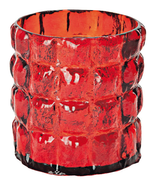 Interni - Vasi - Vaso Matelasse di Kartell - Rosso trasparente - policarbonato
