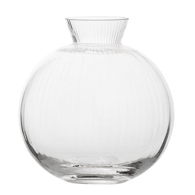 Image of Vaso - / Ø 11cm di Bloomingville - Trasparente - Vetro